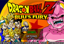 Dragon Ball Z Buu's Fury Online Title Screen