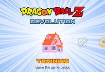 Dragon Ball Z Devolution Title Screen