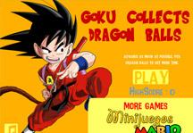 Goku Collects Dragon Balls Title Screen