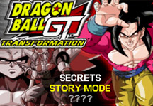 Dragon Ball GT Transformation Online Title Screen