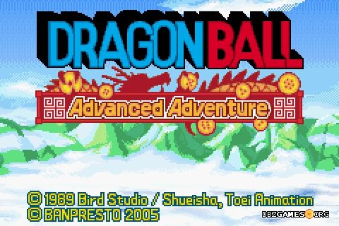Dragon Ball Advanced Adventure - Title screen