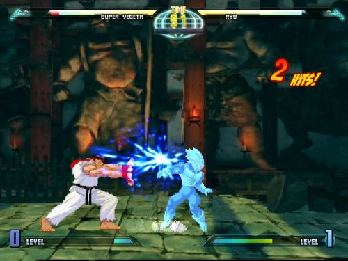 Dragon Ball Z vs Street Fighter III - Vegeta vs Ryu