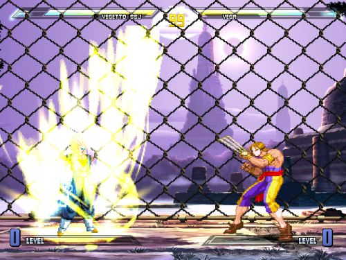 Dragon Ball Z vs Street Fighter III - Vegetto vs Vega