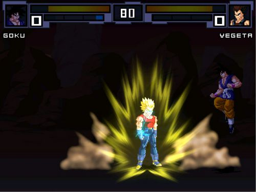 Dragon Ball GT MUGEN - Vegeta goes SSJ