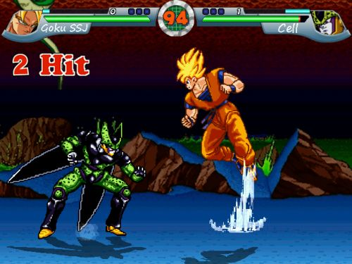 Dragon Ball Z MUGEN Budokai Action - Goku vs Cell