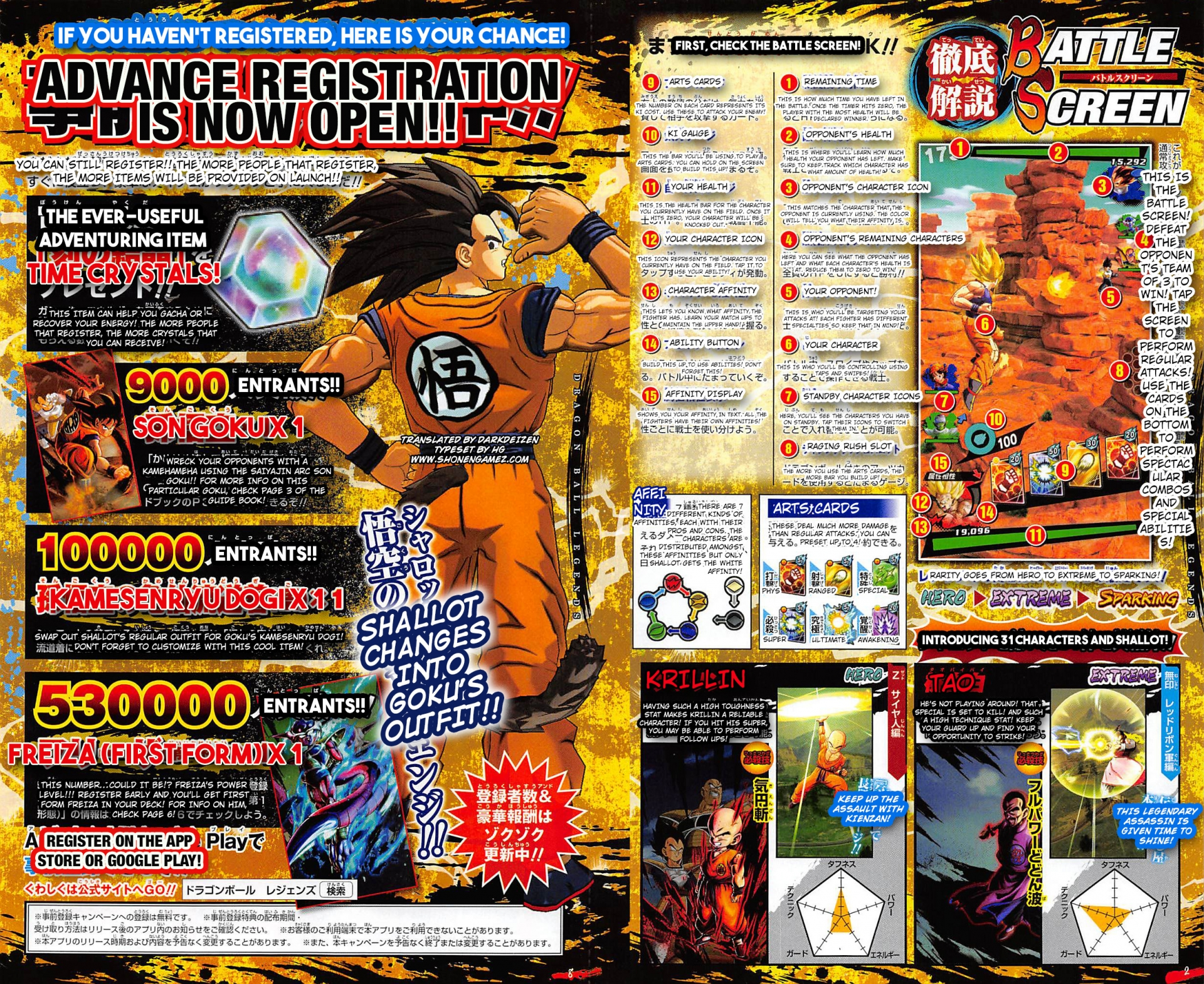 Dragon Ball Legends Character Cards Preview Pre Registration