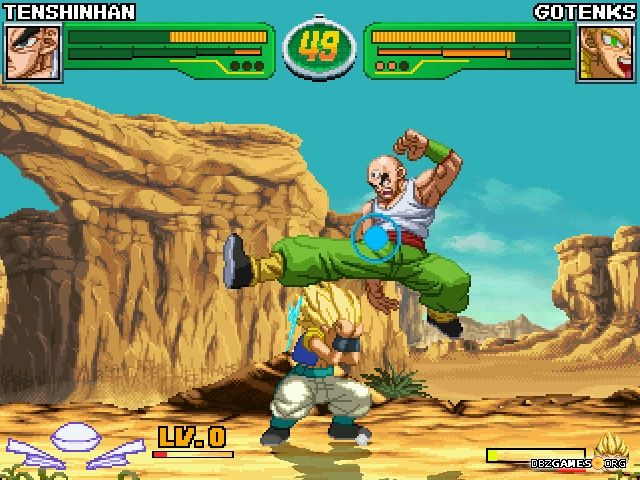 Hyper Dragon Ball Z - Tien vs Gotenks