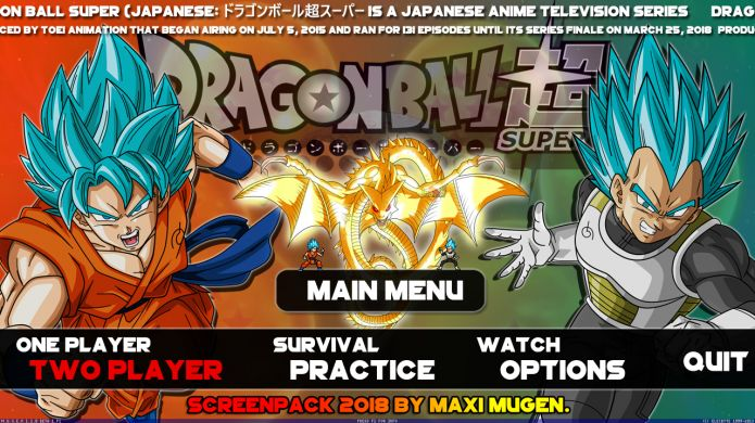 Dragon Ball Super Maxi Mugen - Screenshot